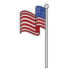 Usa country flag icon vector