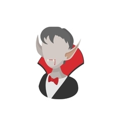 Vampire costume icon cartoon style vector image