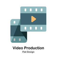 Video production flat icon vector
