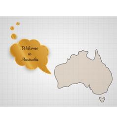 Welcome to australia vector