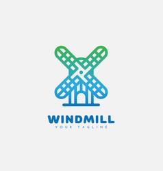 Windmill logo vector