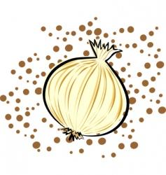 yellow onion vector image vector image