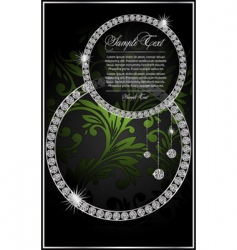 abstract illustration with the diamonds vector image vector image