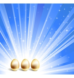 gold eggs background vector image vector image