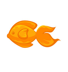 goldfish animal sign in flat design isolated on vector image