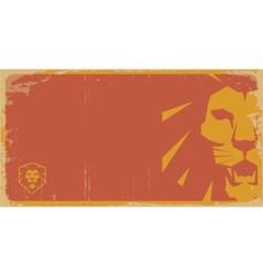 Lion vintage poster lion retro pattern lion temp vector image vector image