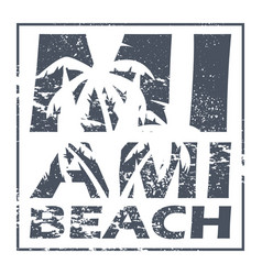 miami beach poster vector image