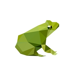 modern flat design with origami frog vector image vector image
