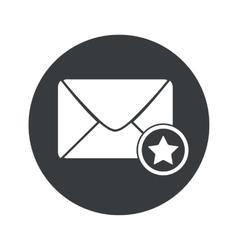 Monochrome round favorite letter icon vector
