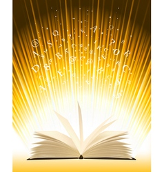 Opened magic book vector image