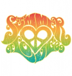 summer of love vector image vector image