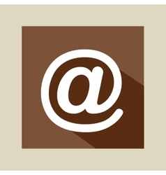 Symbol mail network icon vector