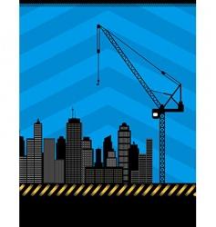 urban construction illustration vector image