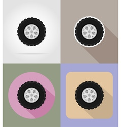 car equipment flat icons 14 vector image vector image