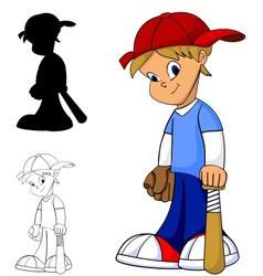 kid baseball vector image