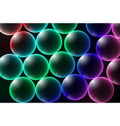 Abstract background glow and glass bubbles vector image