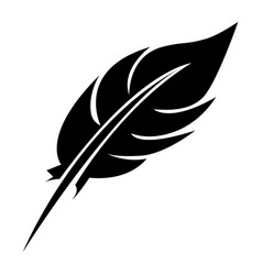 black feather icon stock vector image vector image
