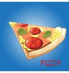 Slice of pizza Margherita vector image