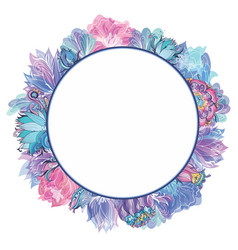 sweet floral frame vector image vector image