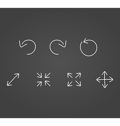 Arrows icons draw effect vector image vector image