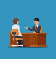 business executive talking with employee vector image vector image