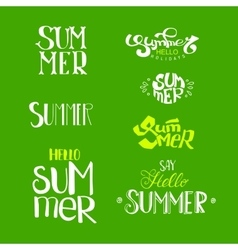 Hello Summer Lettering set vector image vector image