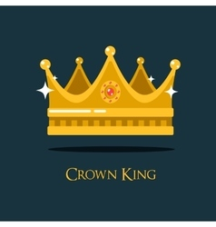 Medieval queen crown or king headdress vector image vector image