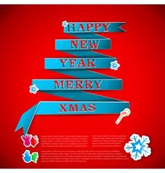 Merry XMas greeting card vector image vector image