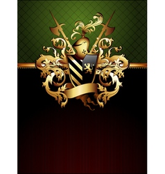 Ornate frame with coat of arms vector