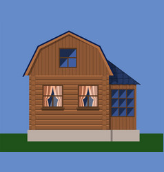 Rustic country wooden house vector