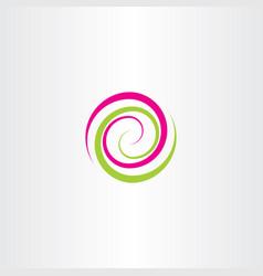 Swirl spiral tech logo wave icon design element vector