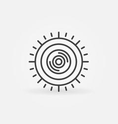 360-degree camera linear concept minimal vector