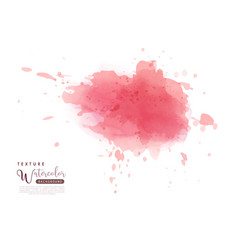 Abstract isolated bright watercolor stain vector
