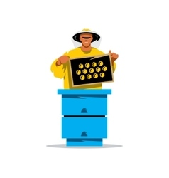 Apiary beekeeper Cartoon vector image