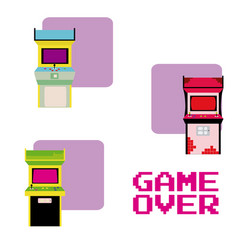 Arcades game over vector