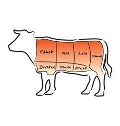 Beef cut vector