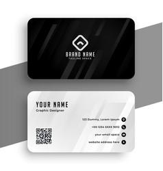 black and white elegant business card design vector image