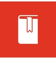 Book and bookmark icon design Library vector