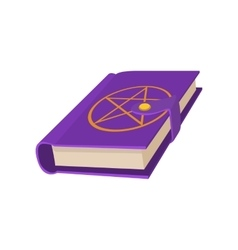 Book with a star in a circle on the cover icon vector image