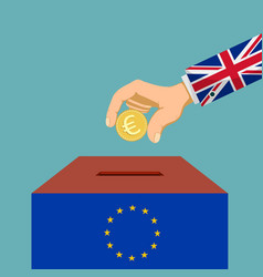 brexit great britain from european union vector image