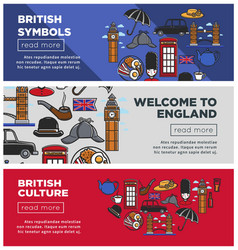 British culture and symbols internet pages vector