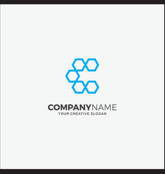 Business logo modern hexagon initial c vector