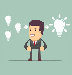 Businessman think about ideas cooperate concept vector