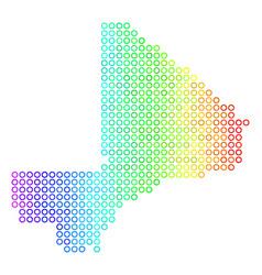 Colored cirle dot mali map vector