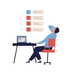Concept missing deadline bad time management vector
