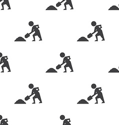 Construction works seamless pattern vector