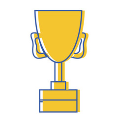 Cup prize symbol to winner of competition game vector
