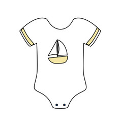 cute baby suit wear vector image