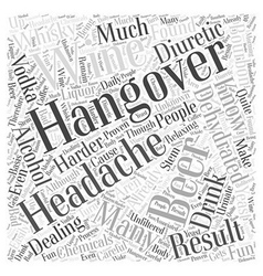 Dealing With Hangovers Word Cloud Concept vector