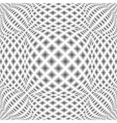 Design monochrome warped diamond pattern vector